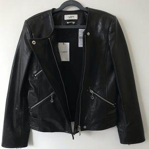 Isabel Marant Etoile Grinly Leather Jacket SZ 34